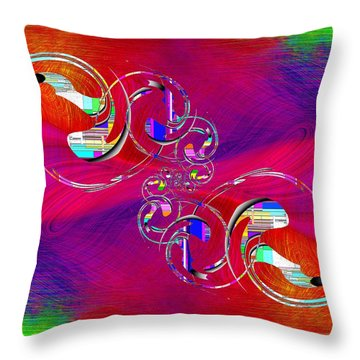 Throw Pillow featuring the digital art Abstract Cubed 360 by Tim Allen