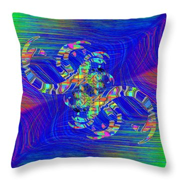 Throw Pillow featuring the digital art Abstract Cubed 362 by Tim Allen
