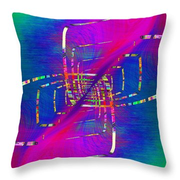 Throw Pillow featuring the digital art Abstract Cubed 363 by Tim Allen