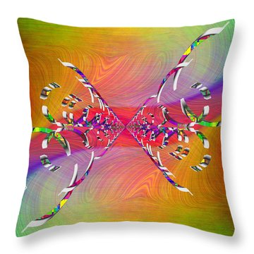 Throw Pillow featuring the digital art Abstract Cubed 364 by Tim Allen