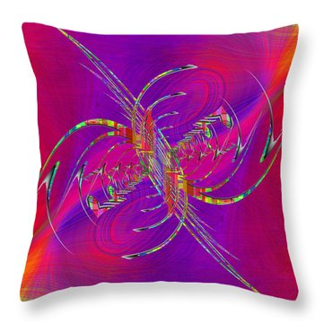Throw Pillow featuring the digital art Abstract Cubed 365 by Tim Allen