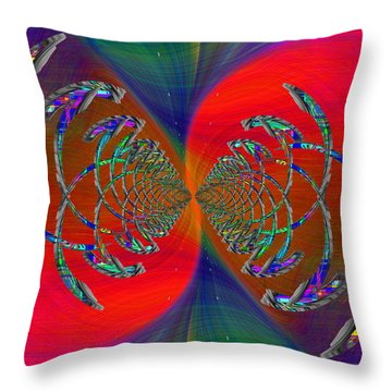 Abstract Cubed 366 Throw Pillow
