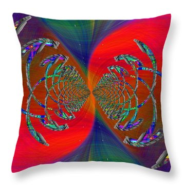 Throw Pillow featuring the digital art Abstract Cubed 366 by Tim Allen
