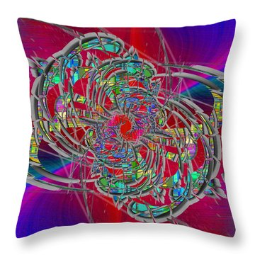 Abstract Cubed 367 Throw Pillow