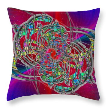 Throw Pillow featuring the digital art Abstract Cubed 367 by Tim Allen