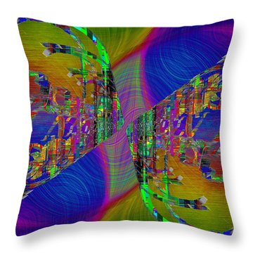 Throw Pillow featuring the digital art Abstract Cubed 368 by Tim Allen