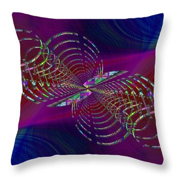 Throw Pillow featuring the digital art Abstract Cubed 369 by Tim Allen