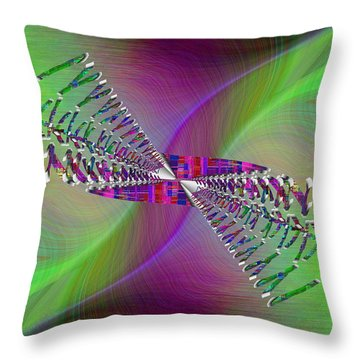 Throw Pillow featuring the digital art Abstract Cubed 370 by Tim Allen
