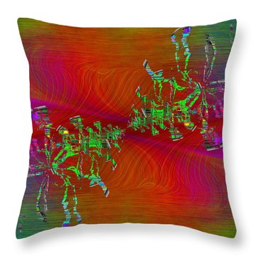 Abstract Cubed 371 Throw Pillow