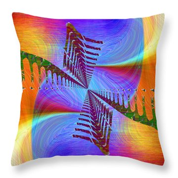 Abstract Cubed 372 Throw Pillow