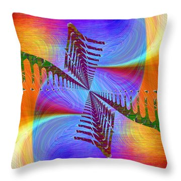 Throw Pillow featuring the digital art Abstract Cubed 372 by Tim Allen