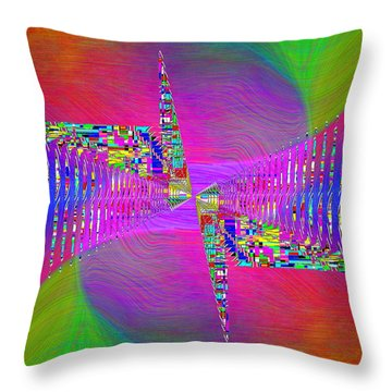 Abstract Cubed 373 Throw Pillow