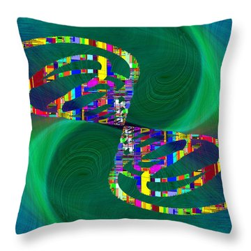 Throw Pillow featuring the digital art Abstract Cubed 374 by Tim Allen
