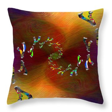 Throw Pillow featuring the digital art Abstract Cubed 375 by Tim Allen