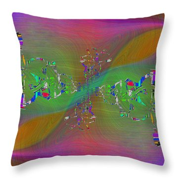 Throw Pillow featuring the digital art Abstract Cubed 376 by Tim Allen