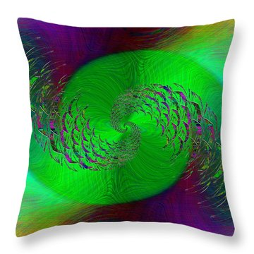 Throw Pillow featuring the digital art Abstract Cubed 378 by Tim Allen