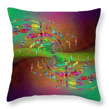 Throw Pillow featuring the digital art Abstract Cubed 379 by Tim Allen