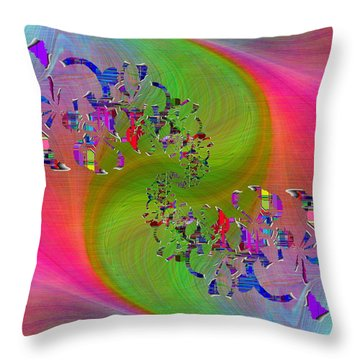 Throw Pillow featuring the digital art Abstract Cubed 381 by Tim Allen