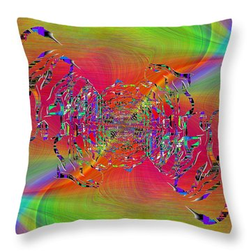 Abstract Cubed 382 Throw Pillow