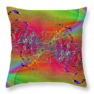 Throw Pillow featuring the digital art Abstract Cubed 382 by Tim Allen