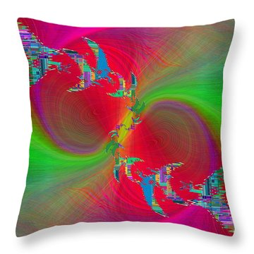 Abstract Cubed 383 Throw Pillow