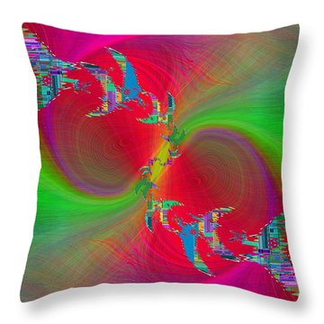 Throw Pillow featuring the digital art Abstract Cubed 383 by Tim Allen