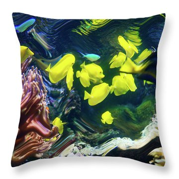 Abstract Dancing Colorful Ish Throw Pillow