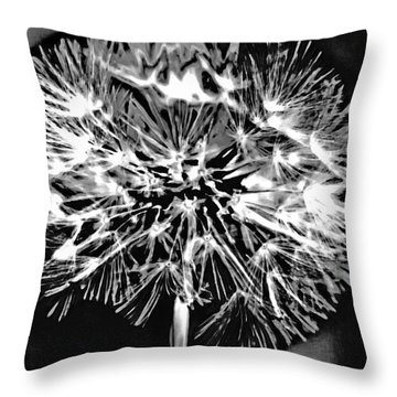 Abstract Dandelion Throw Pillow