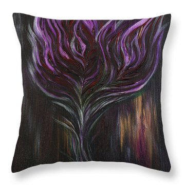 Abstract Dark Rose Throw Pillow