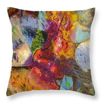 Abstract Depths Throw Pillow