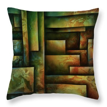 Abstract Design 102 Throw Pillow by Michael Lang