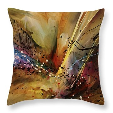 Abstract Design 108 Throw Pillow by Michael Lang