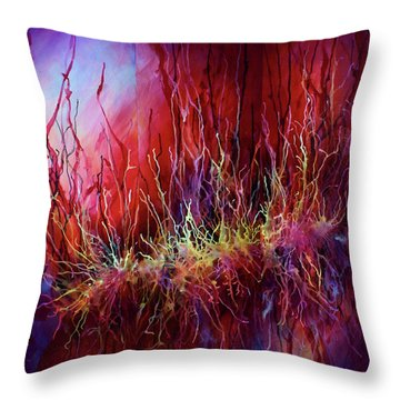 Abstract Design 110 Throw Pillow by Michael Lang