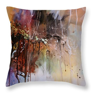 Abstract Design 80 Throw Pillow by Michael Lang