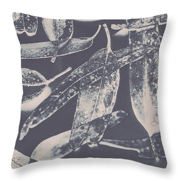 Abstract Design Tree Leaves Background Throw Pillow