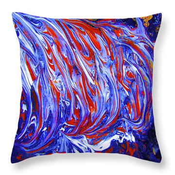 Throw Pillow featuring the digital art Abstract Digital #2 by Renee Anderson