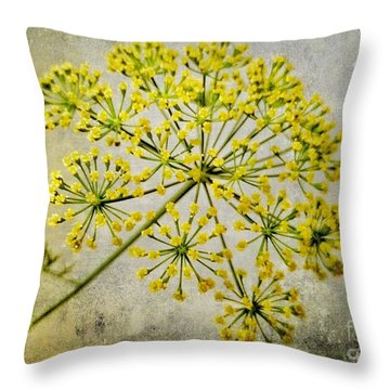 Attractive Dill Blossom  Throw Pillow