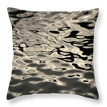 Abstract Dock Reflections I Toned Throw Pillow