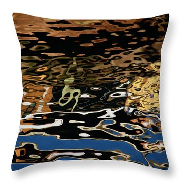 Abstract Dock Reflections II Color Sq Throw Pillow