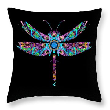 Abstract Dragonfly Throw Pillow
