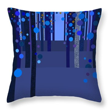 Abstract Dreamscape - Blues Throw Pillow