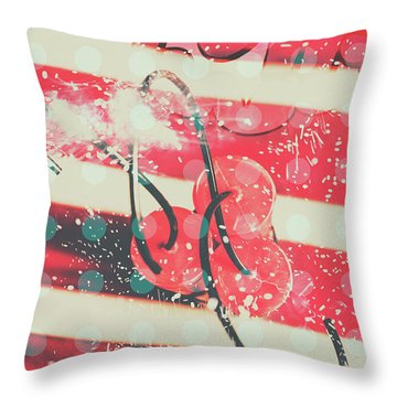 Abstract Dynamite Charge Throw Pillow
