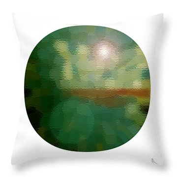 Abstract Earth Equator Throw Pillow by Michael Flood