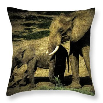 Abstract Elephants 23 Throw Pillow