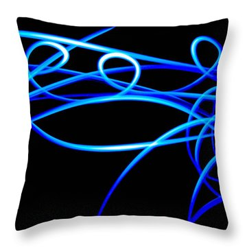 Abstract Energy Flow Throw Pillow by Bruce Pritchett