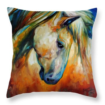 Abstract Equine Eccense Throw Pillow
