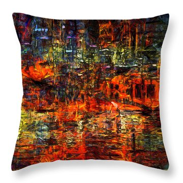 Abstract Evening Throw Pillow