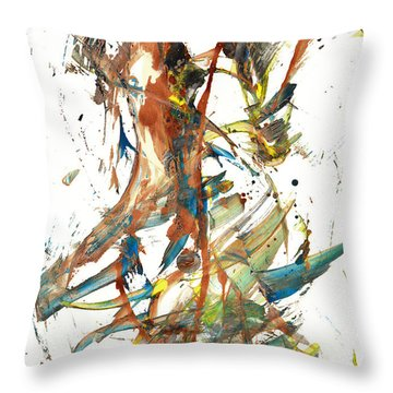 Throw Pillow featuring the painting Abstract Expressionism Painting Series 1039.050812 by Kris Haas