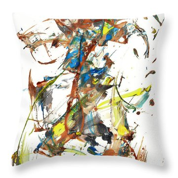 Throw Pillow featuring the painting Abstract Expressionism Painting Series 1040.050812 by Kris Haas