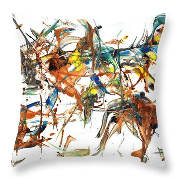 Throw Pillow featuring the painting Abstract Expressionism Painting Series 1041.050812 by Kris Haas